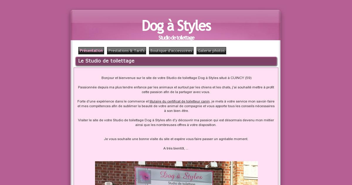 Studio de toilettage dog styles galerie photos for Tarif pour tondre pelouse